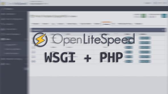 OpenLiteSpeed: Run WSGI app and PHP on the same Virtual Host